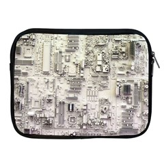 White Technology Circuit Board Electronic Computer Apple Ipad 2/3/4 Zipper Cases