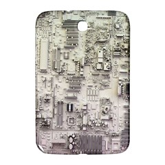 White Technology Circuit Board Electronic Computer Samsung Galaxy Note 8 0 N5100 Hardshell Case