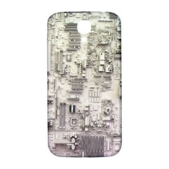 White Technology Circuit Board Electronic Computer Samsung Galaxy S4 I9500/i9505  Hardshell Back Case