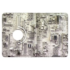 White Technology Circuit Board Electronic Computer Kindle Fire Hdx Flip 360 Case