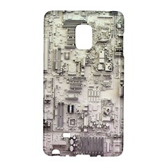 White Technology Circuit Board Electronic Computer Galaxy Note Edge