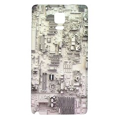 White Technology Circuit Board Electronic Computer Galaxy Note 4 Back Case