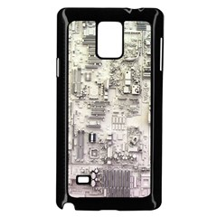 White Technology Circuit Board Electronic Computer Samsung Galaxy Note 4 Case (black)
