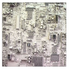 White Technology Circuit Board Electronic Computer Large Satin Scarf (square)