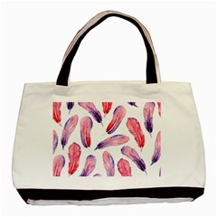 Watercolor Pattern With Feathers Basic Tote Bag (two Sides)