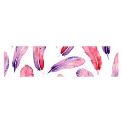 Watercolor Pattern With Feathers Satin Scarf (oblong)