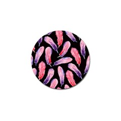 Watercolor Pattern With Feathers Golf Ball Marker (10 Pack)