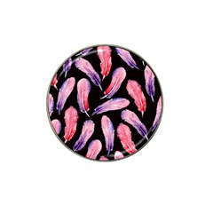 Watercolor Pattern With Feathers Hat Clip Ball Marker