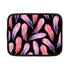 Watercolor Pattern With Feathers Netbook Case (small)