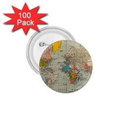 Vintage World Map 1 75  Buttons (100 Pack)