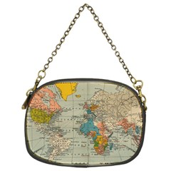 Vintage World Map Chain Purses (two Sides)