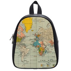 Vintage World Map School Bags (small)