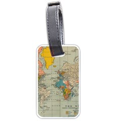 Vintage World Map Luggage Tags (one Side)