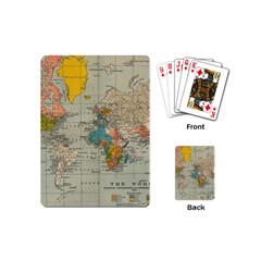 Vintage World Map Playing Cards (mini)