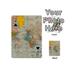 Vintage World Map Playing Cards 54 (mini)