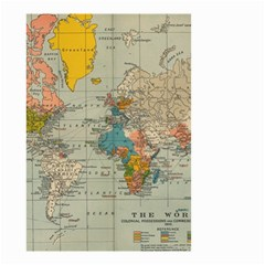 Vintage World Map Small Garden Flag (two Sides)
