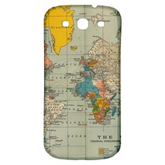 Vintage World Map Samsung Galaxy S3 S Iii Classic Hardshell Back Case