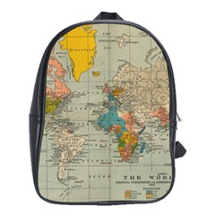 Vintage World Map School Bags (xl)