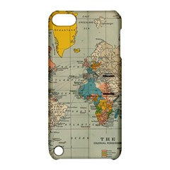 Vintage World Map Apple Ipod Touch 5 Hardshell Case With Stand