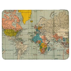 Vintage World Map Samsung Galaxy Tab 7  P1000 Flip Case