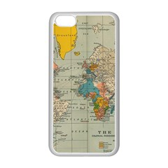 Vintage World Map Apple Iphone 5c Seamless Case (white)