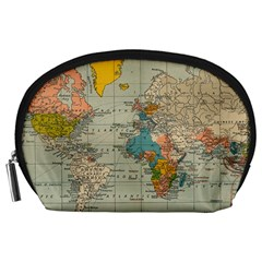Vintage World Map Accessory Pouches (large)