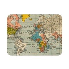 Vintage World Map Double Sided Flano Blanket (mini)