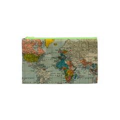 Vintage World Map Cosmetic Bag (xs)