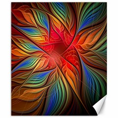 Vintage Colors Flower Petals Spiral Abstract Canvas 8  X 10