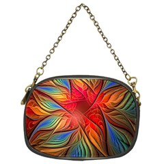 Vintage Colors Flower Petals Spiral Abstract Chain Purses (two Sides)
