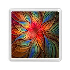 Vintage Colors Flower Petals Spiral Abstract Memory Card Reader (square)