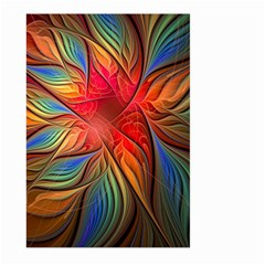 Vintage Colors Flower Petals Spiral Abstract Large Garden Flag (two Sides)