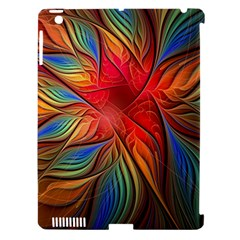 Vintage Colors Flower Petals Spiral Abstract Apple Ipad 3/4 Hardshell Case (compatible With Smart Cover)