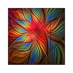 Vintage Colors Flower Petals Spiral Abstract Acrylic Tangram Puzzle (6  X 6 )