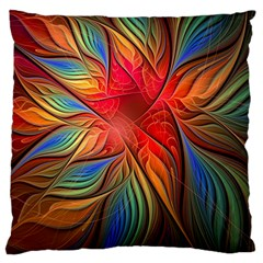 Vintage Colors Flower Petals Spiral Abstract Large Cushion Case (one Side)