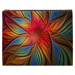Vintage Colors Flower Petals Spiral Abstract Cosmetic Bag (xxxl)