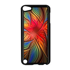 Vintage Colors Flower Petals Spiral Abstract Apple Ipod Touch 5 Case (black)