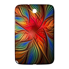 Vintage Colors Flower Petals Spiral Abstract Samsung Galaxy Note 8 0 N5100 Hardshell Case