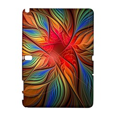 Vintage Colors Flower Petals Spiral Abstract Galaxy Note 1