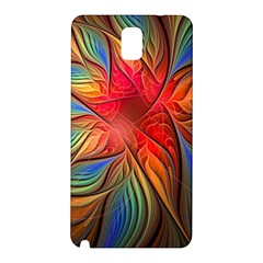 Vintage Colors Flower Petals Spiral Abstract Samsung Galaxy Note 3 N9005 Hardshell Back Case