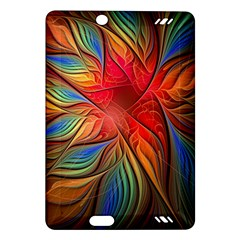Vintage Colors Flower Petals Spiral Abstract Amazon Kindle Fire Hd (2013) Hardshell Case