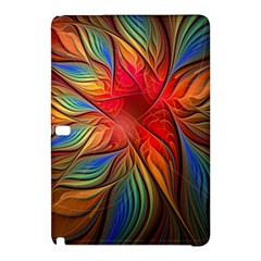 Vintage Colors Flower Petals Spiral Abstract Samsung Galaxy Tab Pro 12 2 Hardshell Case
