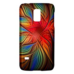 Vintage Colors Flower Petals Spiral Abstract Galaxy S5 Mini