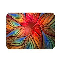 Vintage Colors Flower Petals Spiral Abstract Double Sided Flano Blanket (mini)