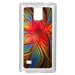 Vintage Colors Flower Petals Spiral Abstract Samsung Galaxy Note 4 Case (white)