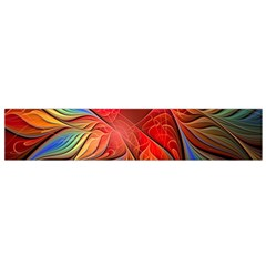 Vintage Colors Flower Petals Spiral Abstract Flano Scarf (small)