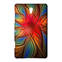 Vintage Colors Flower Petals Spiral Abstract Samsung Galaxy Tab S (8 4 ) Hardshell Case