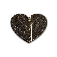Vein Skeleton Of Leaf Heart Coaster (4 Pack)