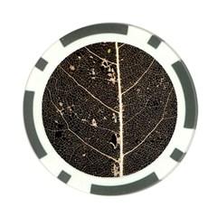 Vein Skeleton Of Leaf Poker Chip Card Guard