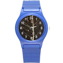 Vein Skeleton Of Leaf Round Plastic Sport Watch (s)